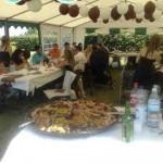 Repas de fête paella anniversaire